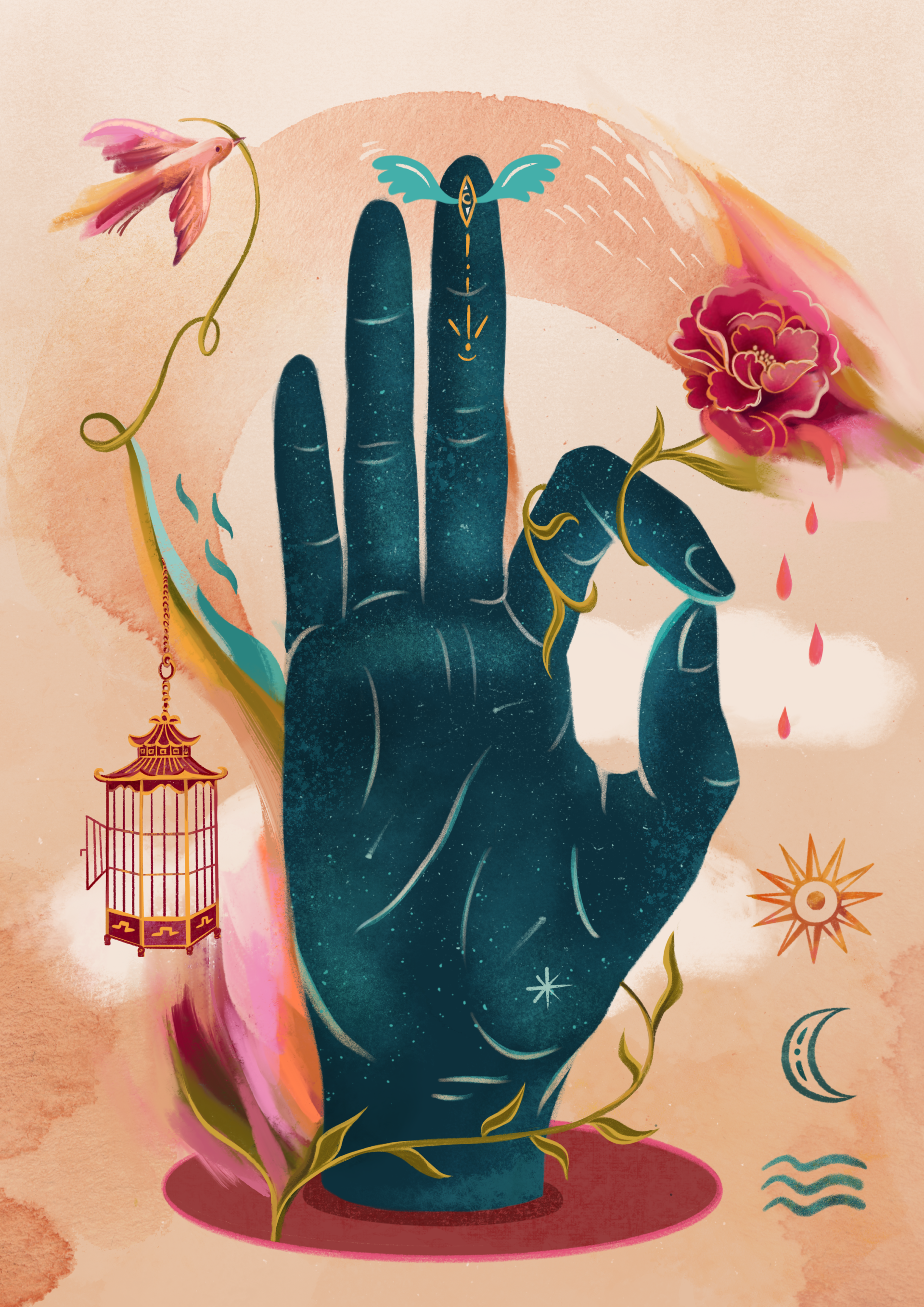 Illustration Chin Mudra